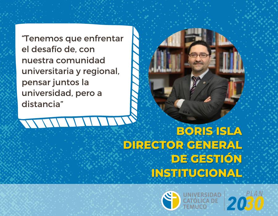 """Boris Isla, Director General de Gestión Institucional: """"Esperamos que se sientan autores genuinamente"""""""